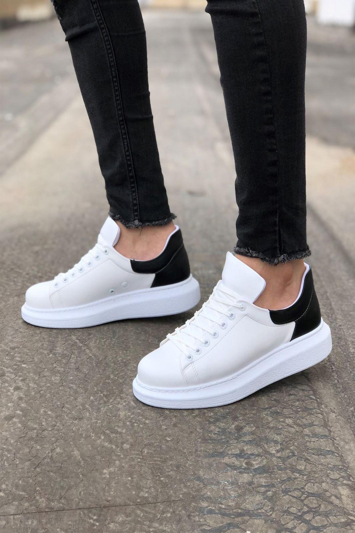 Mida Shoes Beyaz Siyah Mida Sneakers 1