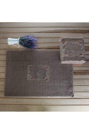 Riva Nakışlı 3'lü  Ayak Havlusu Paspas: 50x70 cm