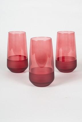 Rakle Matte 3'lü Meşrubat Bardağı Seti Kırmızı 470 cc