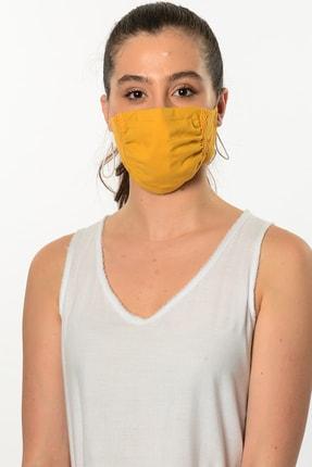 Etnik Esintiler Sarı Dantelli Maske