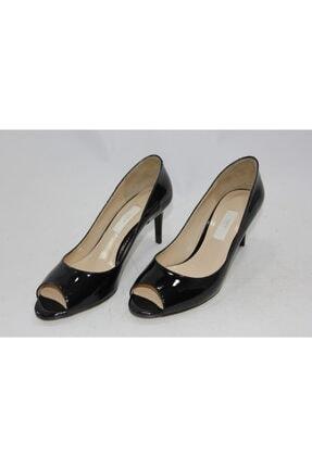 İnci Siyah Hakiki Deri Klasik Topuklu Ayakkabı