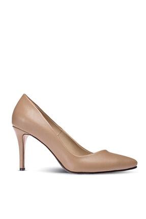 Deery Kadın Bej Rengi İnce Topuklu Ayakkabı
