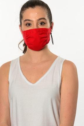 Etnik Esintiler Kırmızı Dantel Detaylı Yıkanabilir Maske