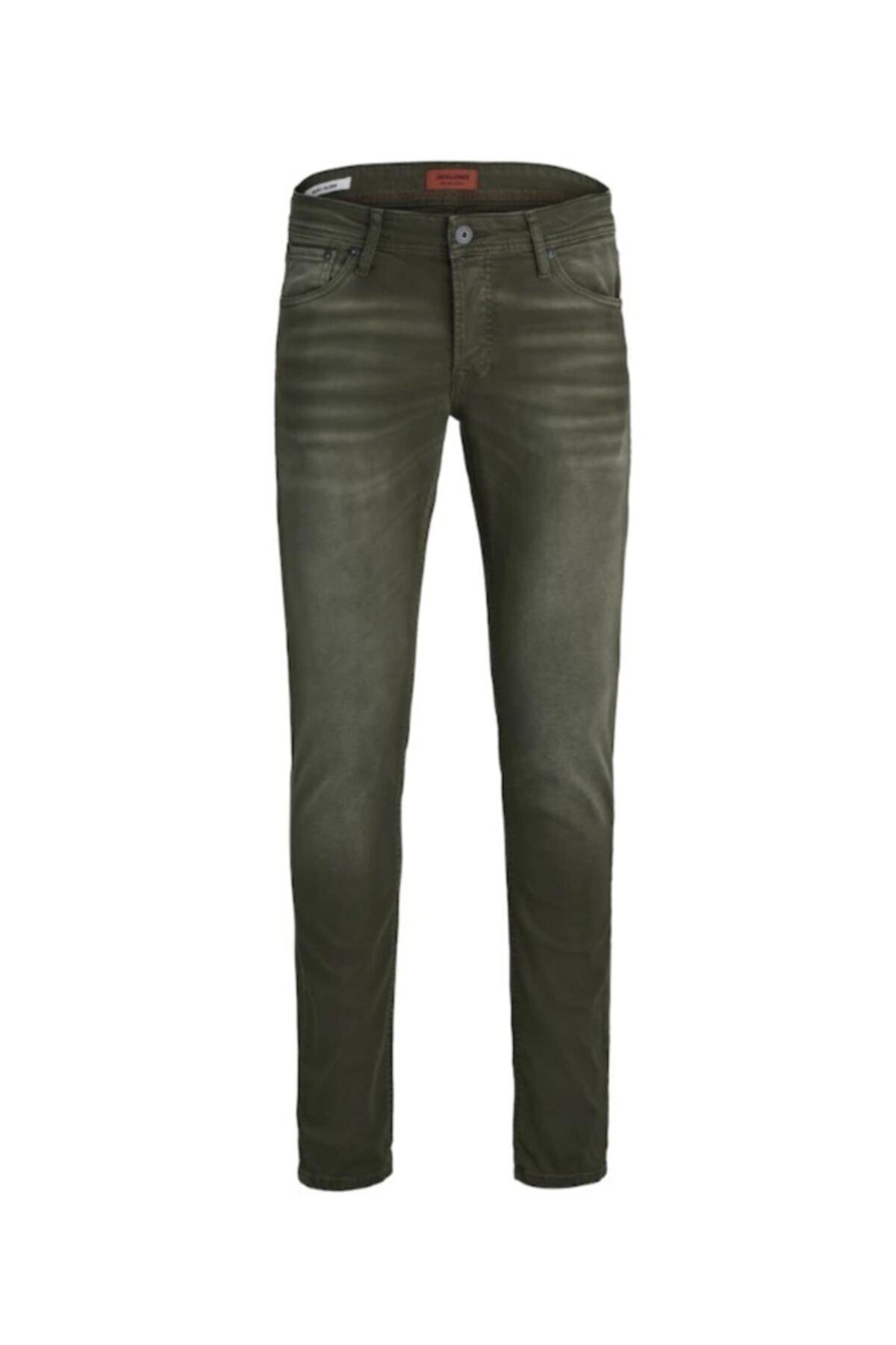 Jack & Jones Jack Jones Erkek Glenn Model Haki Renk Kot Pantolon 12163928 1
