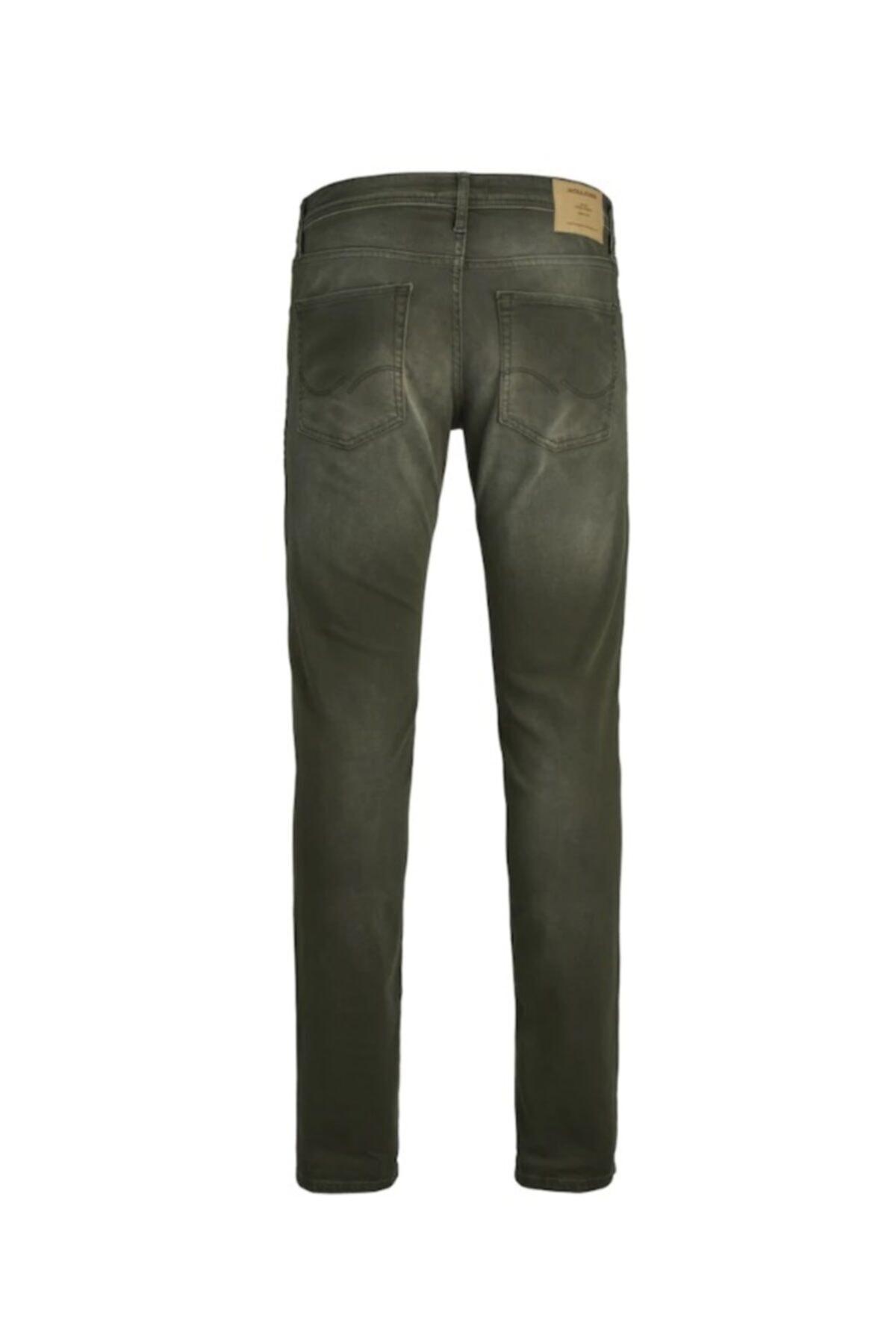 Jack & Jones Jack Jones Erkek Glenn Model Haki Renk Kot Pantolon 12163928 2