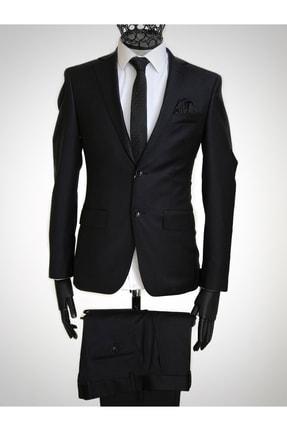 Bagozza Erkek Siyah İtalyan Takım Elbise