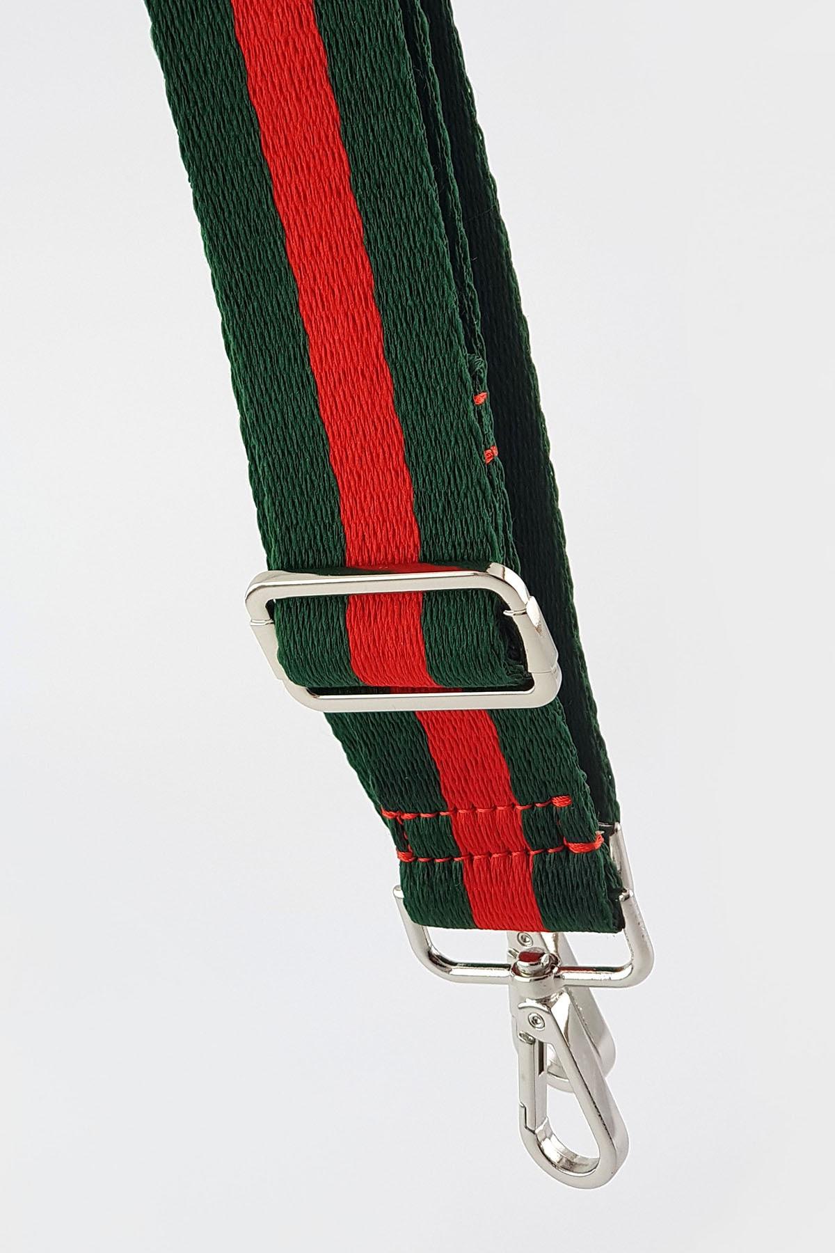 FAEN Yeşil Kırmızı Şerit Çanta & Cep Telefonu Askısı Silver 1