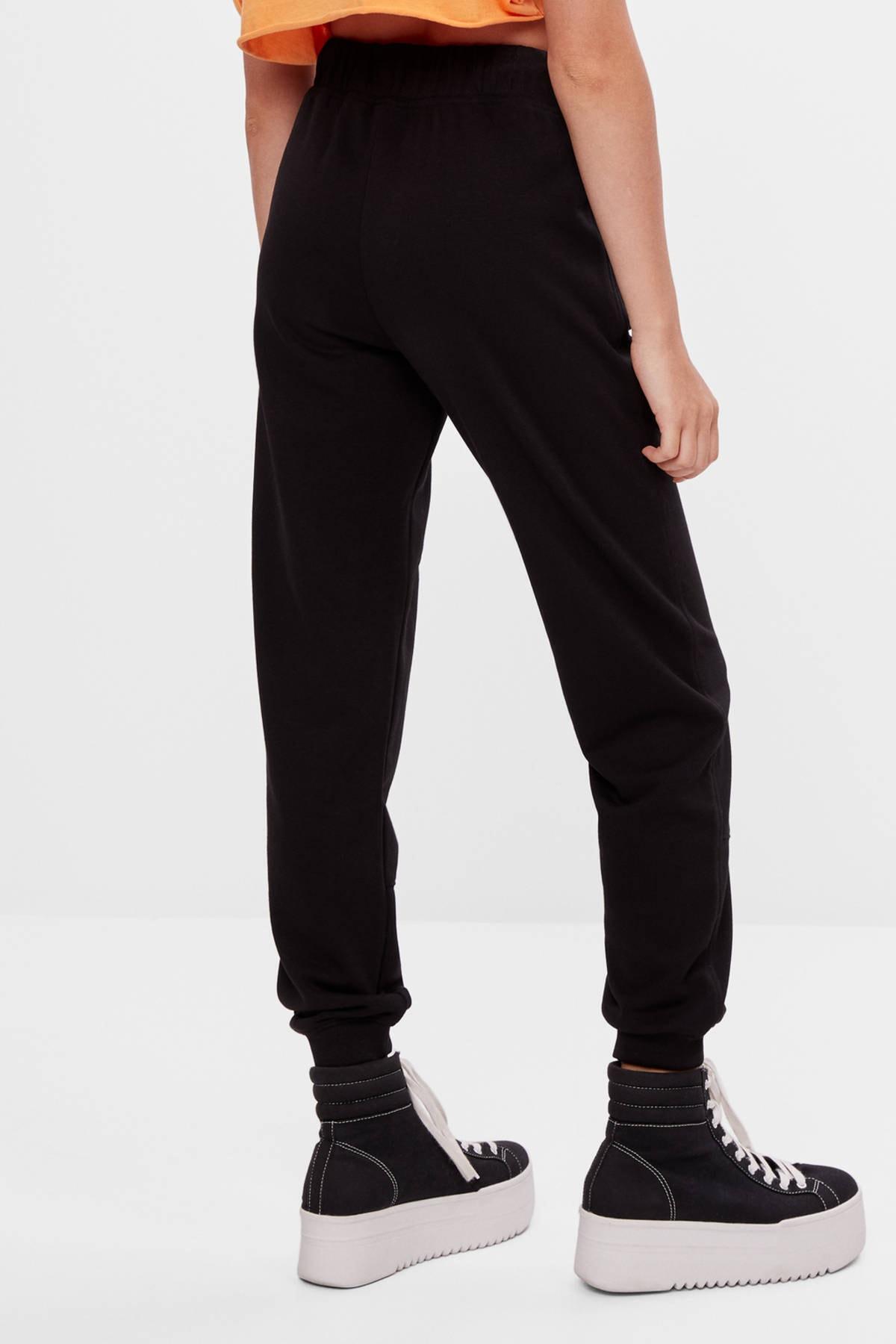 Bershka Kadın Siyah Koton Jogger Pantolon 2