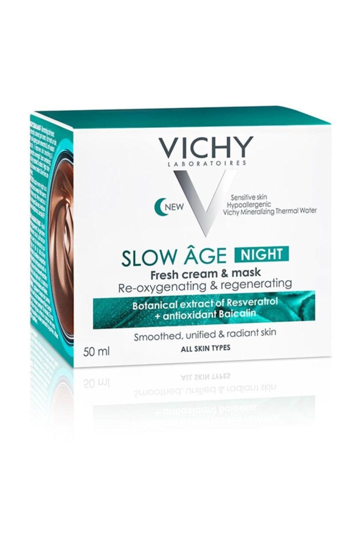 Vichy Slow Age Night Probiyotik Türevi Içeren Detoks Etkili Gece Kremi & Maskesi 50 ml 3337875586283 2