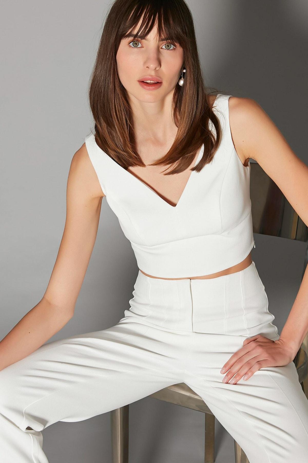 İpekyol Kadın Beyaz Askılı Büstiyer IS1200006231002 1