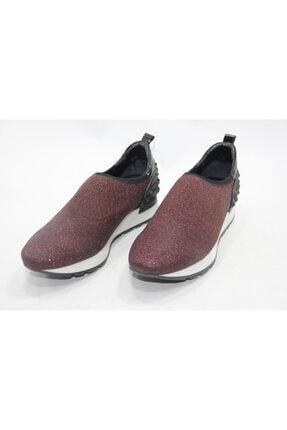İnci Kadın Bordo Hakiki Deri Yürüyüş Ayakkabısı