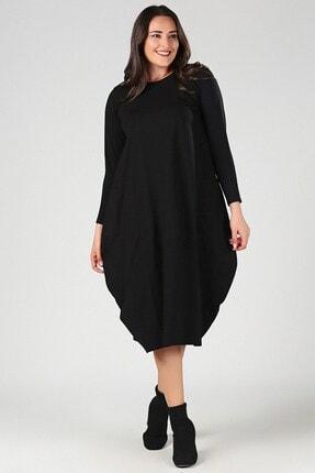 Womenice Kadın Siyah Büyük Beden Elbise