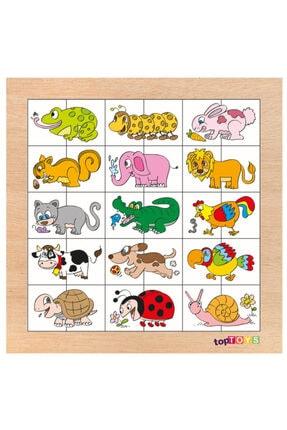 Adalinhome Eşleştir Ve Karıştır Hayvanlar 2 Eğitici Ahşap Puzzle 29x35 Cm