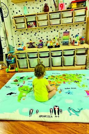 LYN HOME & DECOR Dünya Haritası Oyun Matı Oyun Halısı