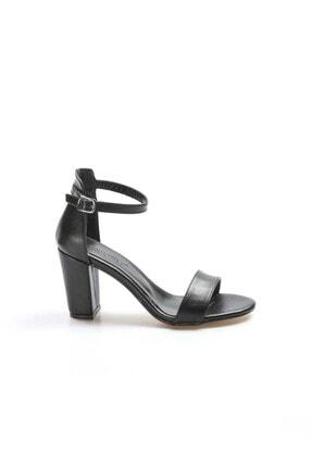 FAST STEP Siyah Kadın Kalın Topuklu Ayakkabı 917ZA601