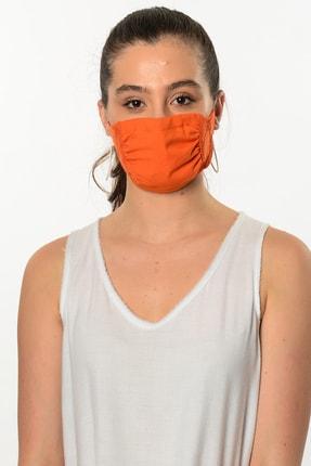 Etnik Esintiler Turuncu Yıkanabilir Maske 3005