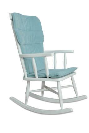 Ahşap Beyaz Sallanan Sandalye