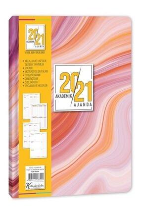 KESKİN COLOR 2020-2021 Ciltli Akademik Ajanda Pink Marble 17*24