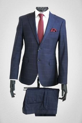 Bagozza Erkek  Mavi İtalyan Takım Elbise