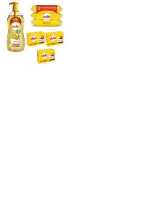Dalin Bebe Şam 900 Ml + Bebek Sabunu 3 Lü + Islak Havlu 3 X56