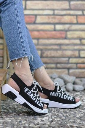 Riccon Siyah Kadın Sandalet 0012999