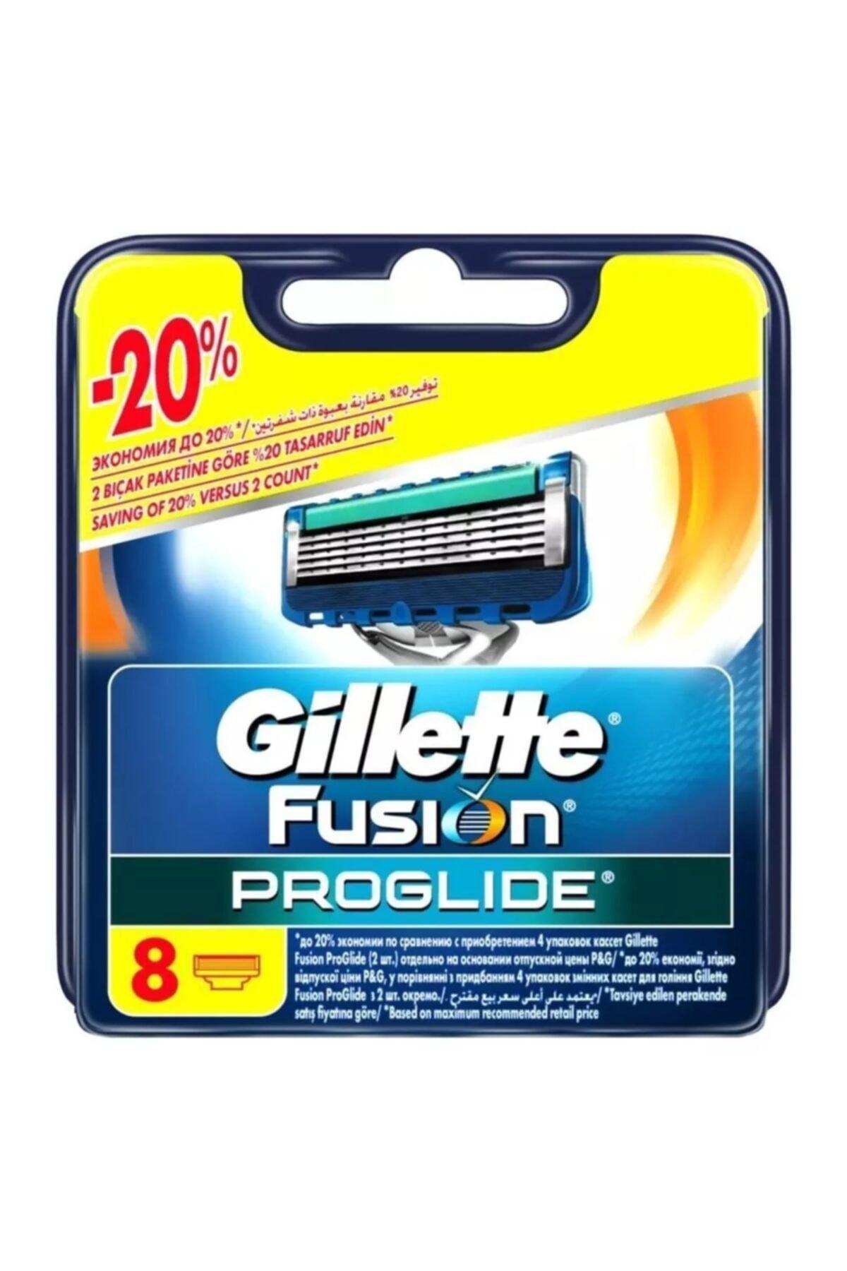 Gillette Fusion Proglide Yedek Tıraş Bıçağı - 8'li 1