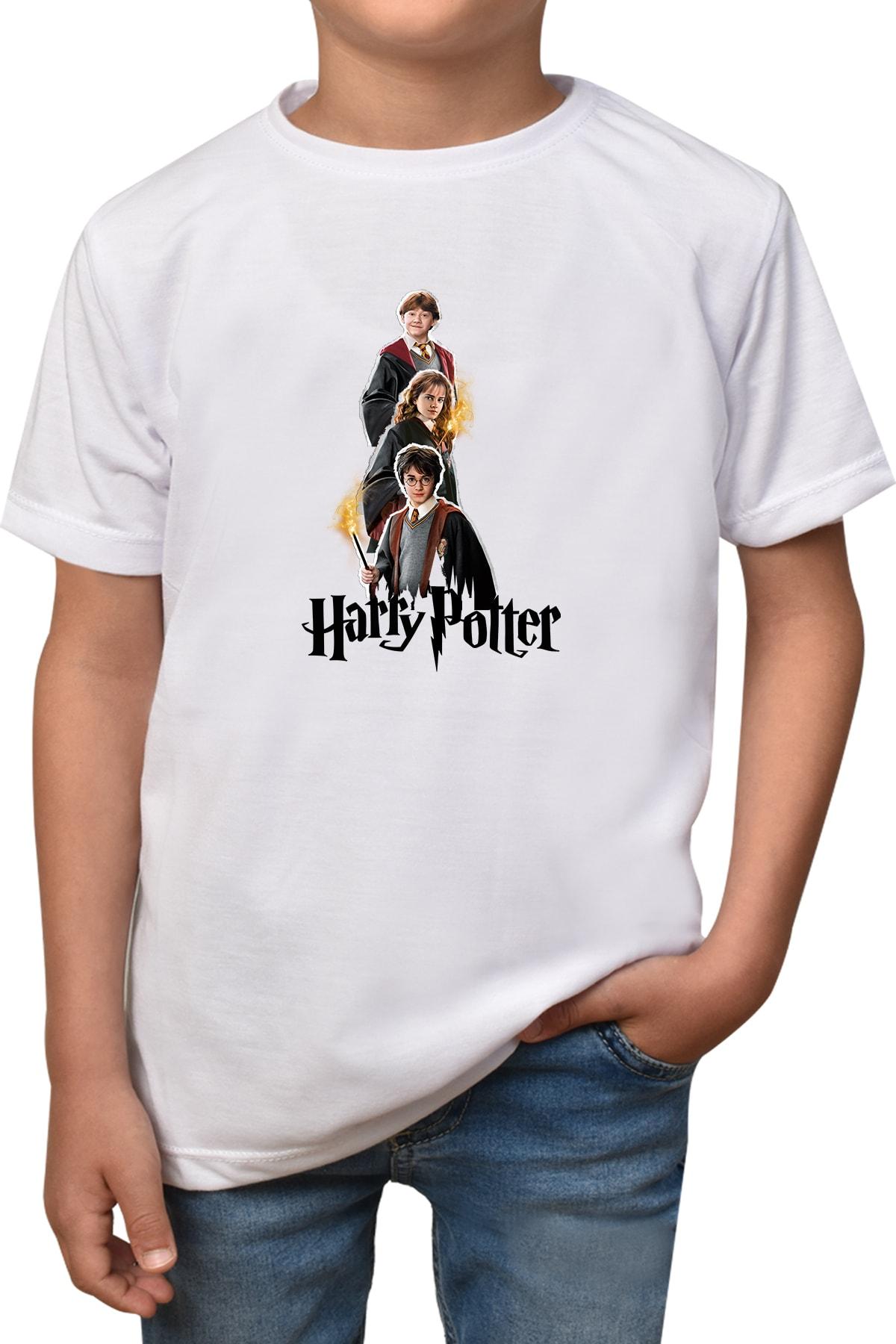 Phi Ajans Erkek Kız Çocuk Beyaz Harry Potter T-shirt T-5 1