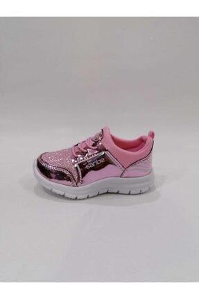 Sanbe 22-30 Pembe Simli Anatomic Spor Ayakkabı