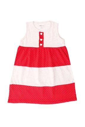 Zafoni Çocuk Kırmızı Günlük Elbise