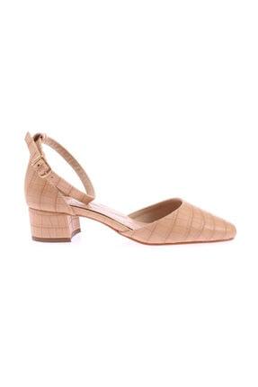 DGN 502-y Bayan Küt Burun Parmak Dekolteli Bilekten Bağlı Ayakkabı 20y
