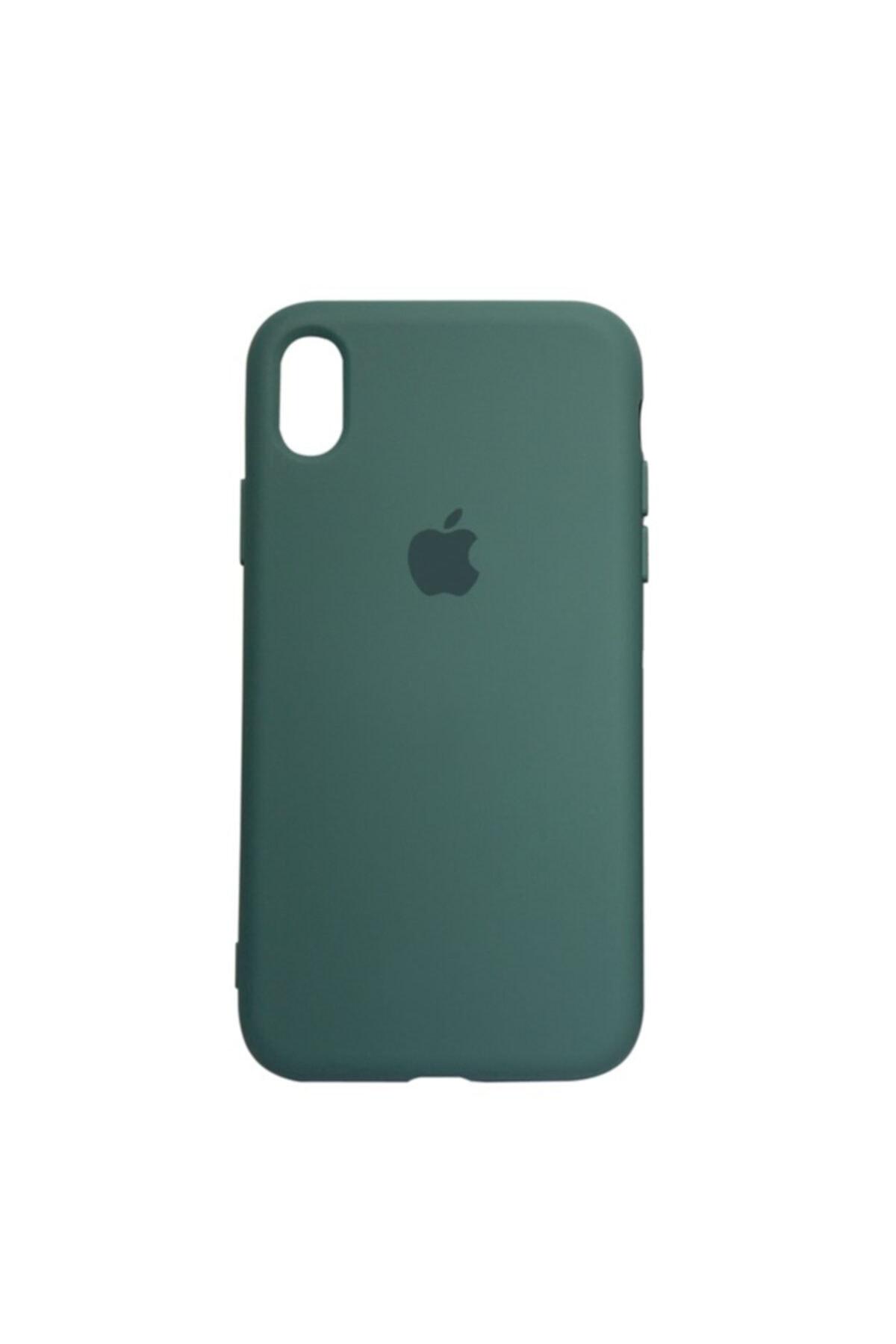 Mopal Apple Iphone Xr Logolu Iç Yüzeyi Kadife Altı Kapalı 360° Tam Koruma Silikon Lansman Kılıf 1