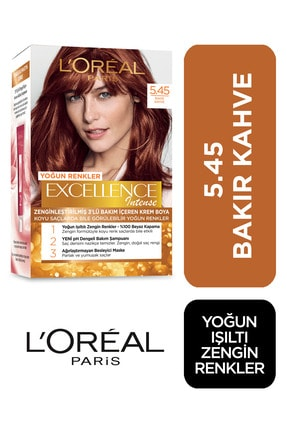 L'Oreal Paris Excellence Intense Saç Boyası  5.45 Bakır Kahve 3600522822271