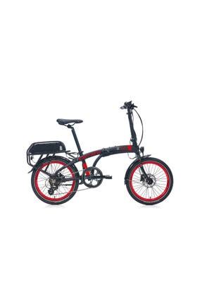 Carraro Unisex Siyah Kırmızı Gri Ego 20j 285h 7-v Hd Mat  Katlanır Elektrikli  Bisiklet