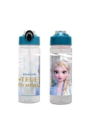 OTTONYA Kadın Mavi Frozen Elsa Baskılı Şeffaf Matara 500 ml  - 44111
