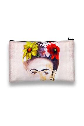 Carali Makyaj Çantası Dijital Baskılı-frida Kahlo