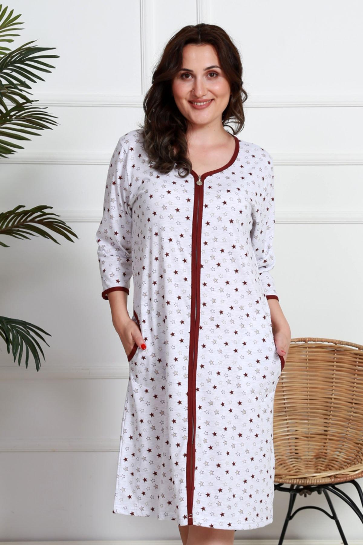 VİENETTA Kadın Fermuarlı Ceplı Ev Elbisesi 1