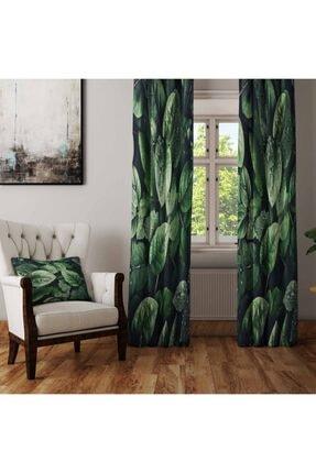 Else Halı Yeşil Yaprak 3d Fon Perde