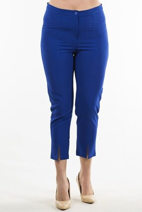Womenice Mavi Klasik Kumaş Pantolon