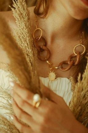 LİNYA JEWELLERY Kadın Altın Hera Evil Eye Kolye