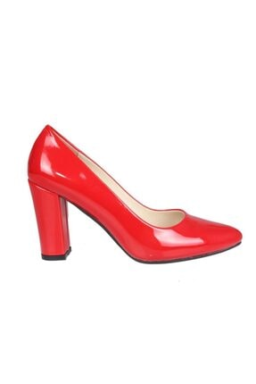 PUNTO 462003 Kadın Kırmızı Rugan Stiletto