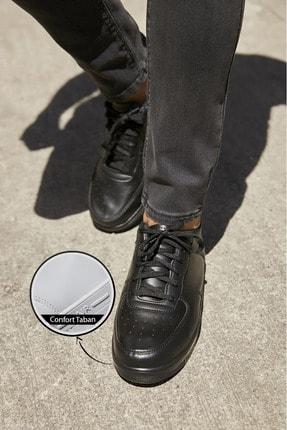Sateen Men Erkek Siyah Air Sneakers Ayakkabı