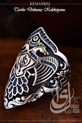 OSESHOP 925 Gümüş Tasarım Kemankeş Yüzüğü