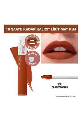 Maybelline New York Likit Mat Ruj - SuperStay Matte Ink City Edition Lipstick 135 Globe-Trotter 3600531513443