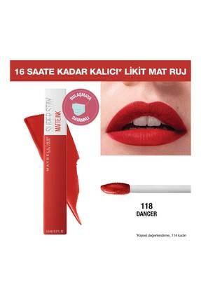 Maybelline New York Likit Mat Ruj - SuperStay Matte Ink City Edition Lipstick 118 Dancer