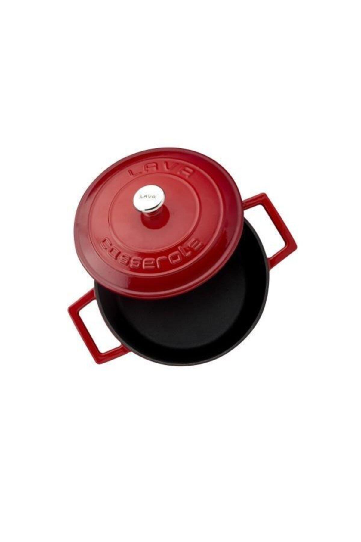 Lava Kırmızı Yuvarlak Döküm Tencere 20 cm Lvytc220k1r 2