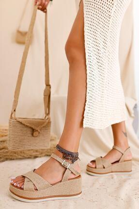 Limoya Kadın Bej Yüksek Taban Ayakkabı