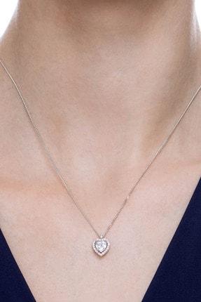 Crystal Diamond Zirconia Labaratuvar Pırlantası 1 Carat Tektaş Kalp Kolye