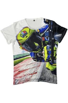 Prosev Agv Motosiklet Erkek T-shirt Beyaz