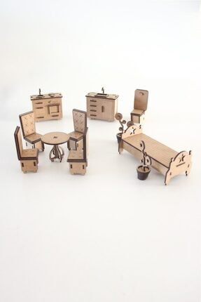 3D SERGİ 3d Ahşap Puzzle Ev Eşyaları Set 2 - 105 Parça