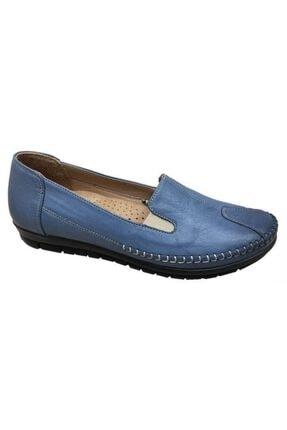 Nehir Kadın Mavi 134 Hakiki Deri Ortopedik Bioflex Ayakkabı